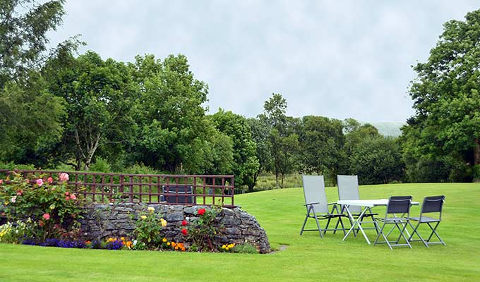 Relax in our garden after a day touring Kerry's Lakes and mountains