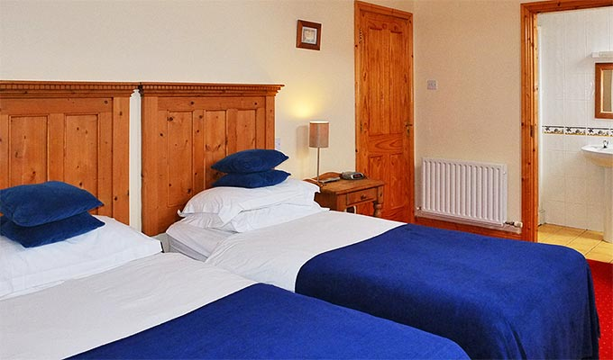 Double, Twin and Triple rooms are available.