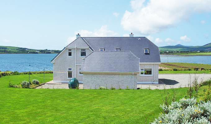 Showing our beautiful location overlooking Dingle Bay