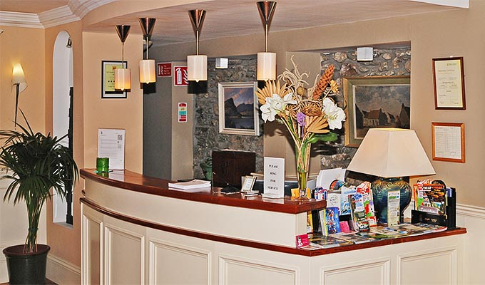 The reception desk manned by staff with an extensive local knowledge.