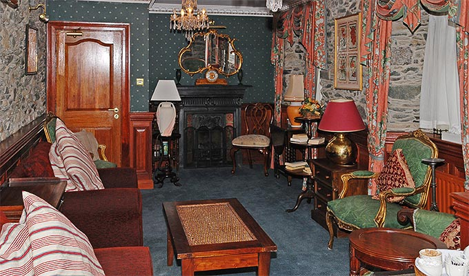 The sitting room is quiet with a small library and tea and coffee facilities.