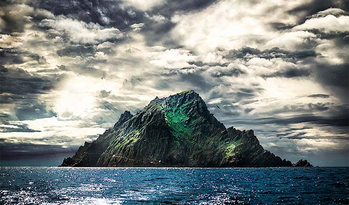Skellig Michael, one of 2 small rocky