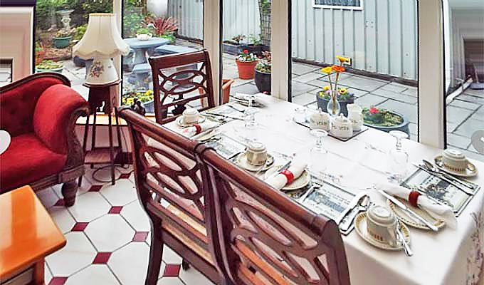 Breakfast can be served in the conservatory