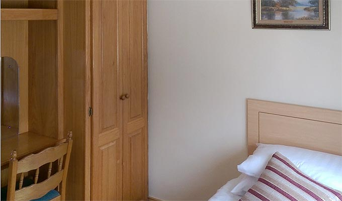 Single, twin and double rooms are available
