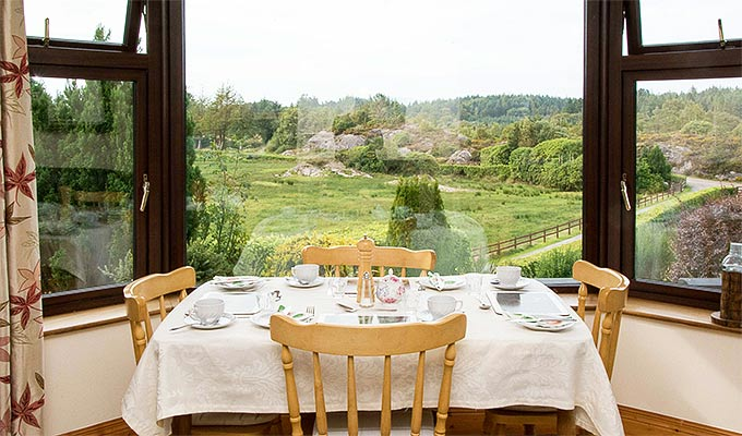 View of the gardens from the breakfast room