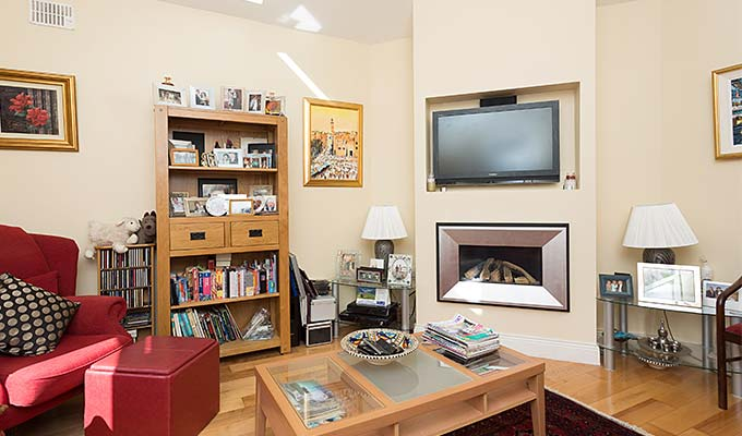 Relax in our guest lounge with TV, books or music
