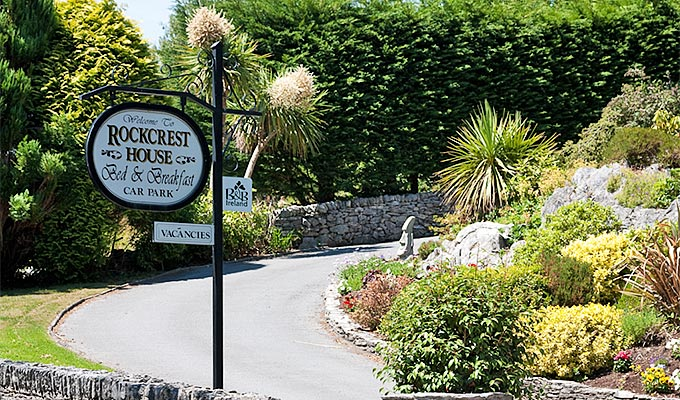 The entrance to Rockcrest with its established gardens
