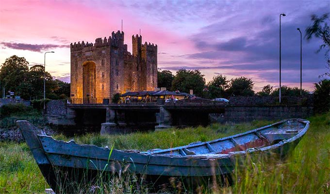 Bunratty Castle and Folk Park. Enjoy a Medieval Banquet or visit the 19th century village.